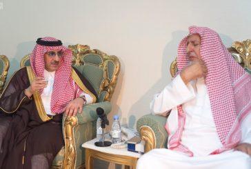 ولي العهد يزور سماحة مفتي عام المملكة والشيخ صالح الفوزان
