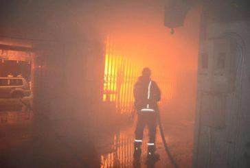 مدني الطائف يسيطر على حريق ٥ محلات تجارية في حي شبرا