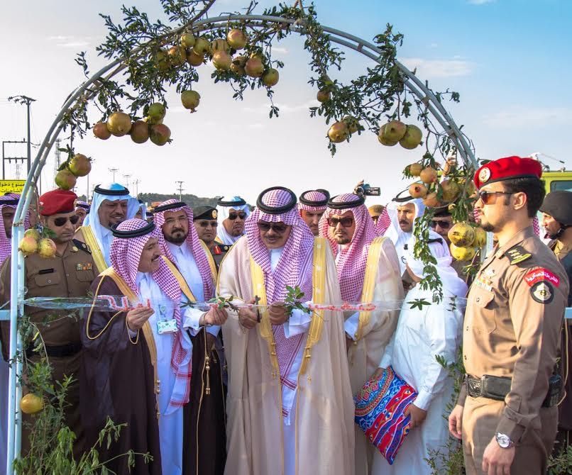 أمير منطقة الباحة يفتتح مهرجان الرمان في نسخته الخامس