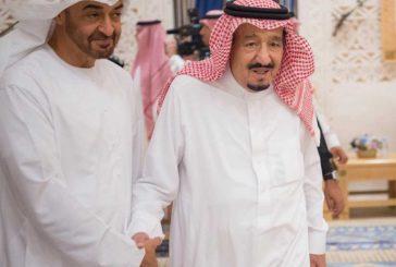 خادم الحرمين يستقبل ولي عهد أبوظبي