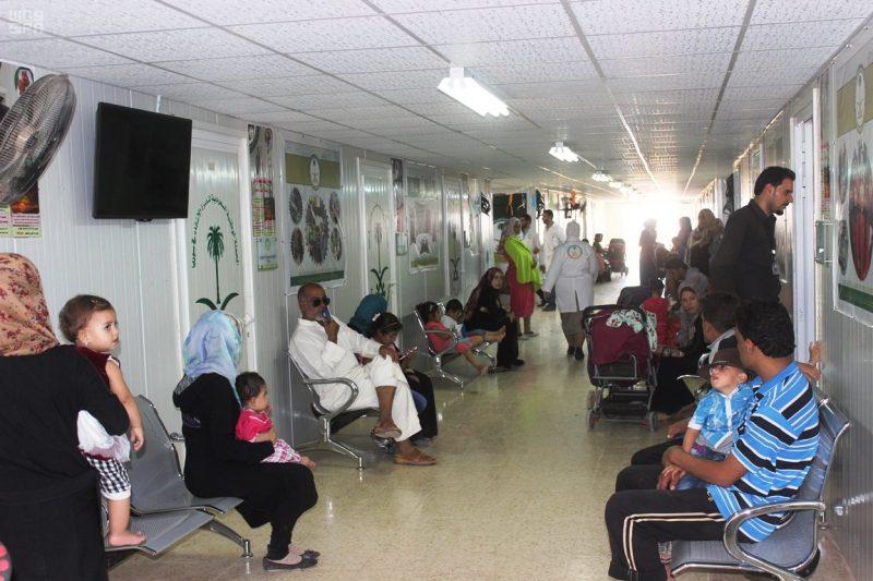 العيادات التخصصية السعودية تصرف 2112 وصفة طبية على اللاجئين السوريين في مخيم الزعتري