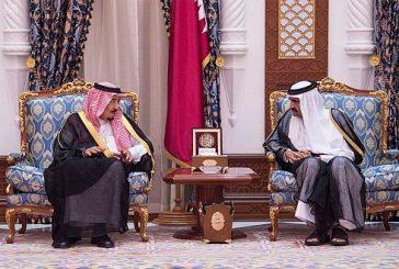 خادم الحرمين الشريفين يصل إلى الدوحة