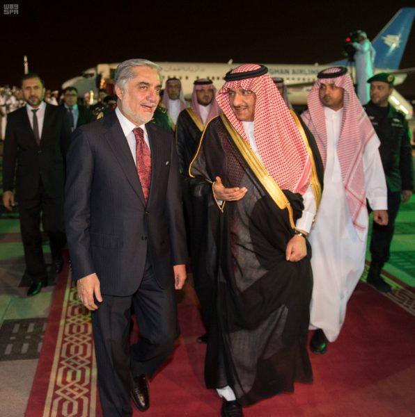 ولي العهد يستقبل الرئيس التنفيذي لأفغانستان