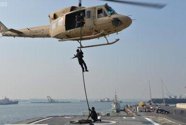"""تمرين """" جسر 17 """" البحري للقوات البحرية السعودية والبحرينية يختتم مناوراته باستخدام الذخيرة الحية"""