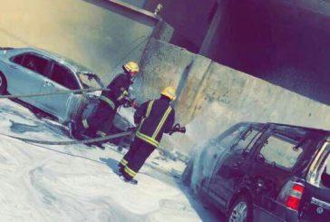 احتراق سيارة مدير مدرسة «نمرة» بجدة يُسبب فوضى بجدة
