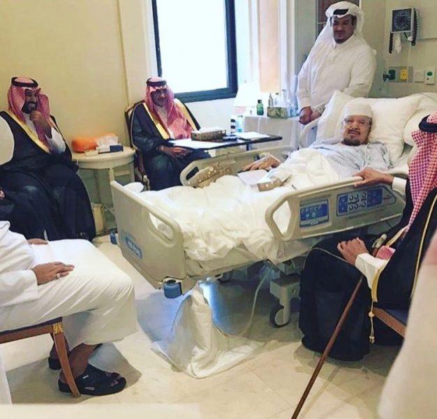 الملك وولي العهد وولي ولي العهد في زيارة للأمير عبدالرحمن