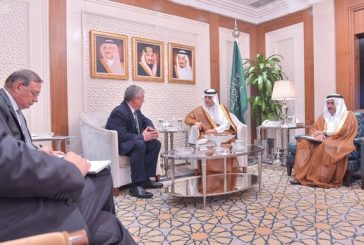 الجبير يستقبل المبعوث الخاص لرئيس روسيا للتسوية السورية