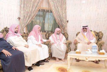 """أمير الباحة يعزي في جمعان """"آل صالحة"""" الغامدي"""
