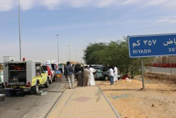إصابة ثلاثة أشخاص بتصادم لـ3 سيارات في بريدة