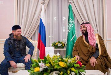 ولي ولي العهد يستقبل رئيس جمهورية الشيشان