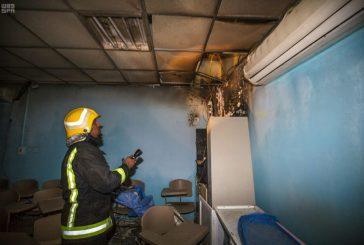 الدفاع المدني يسيطر على حريق مستشفى العارضة العام