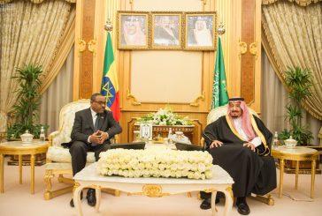 خادم الحرمين يستقبل رئيس وزراء جمهورية اثيوبيا