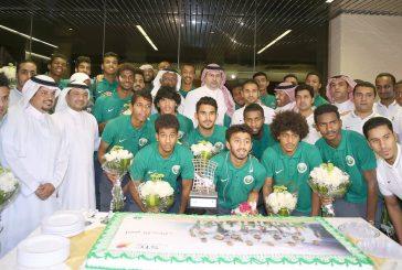 رئيس الهيئة يستقبل منتخب المملكة لكرة القدم لدرجة الشباب