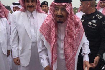 بالصور .. الملك سلمان يُشرف مأدبة غداء الأمير محمد بن فهد في نصف القمر