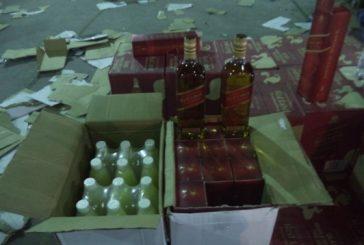 """جمرك البطحاء يحبط تهريب أكثر من 15 ألف زجاجة خمر ضمن إرسالية """"عصير ليمون"""""""