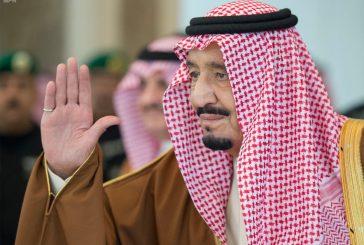 خادم الحرمين الشريفين يستقبل رئيس جمهورية لبنان