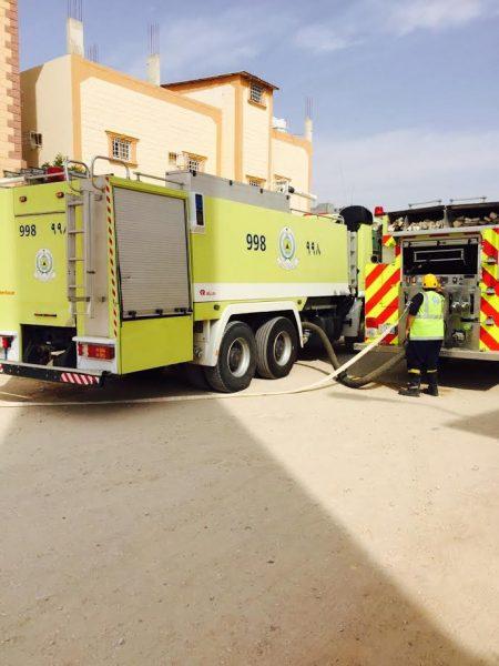 عبث الأطفال يتسبب بإصابة 5 مواطنين 4  نساء وطفل بحريق بحفر الباطن