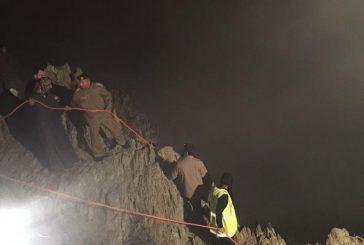 سقوط شخص من مرتفع جبلي بشفا الجماجم بمحافظة المندق
