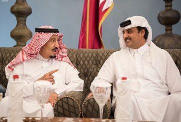 خادم الحرمين الشريفين يشرف حفل غداء أمير دولة قطر