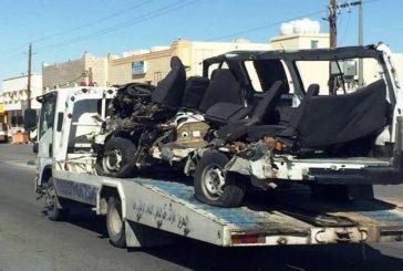 النعيرية..وفاة طالبين وإصابة ٧ في حادث تصادم حافلتي مدرسة