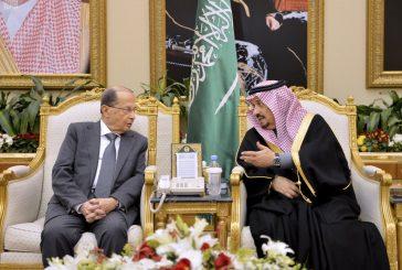 رئيس جمهورية لبنان يصل الرياض