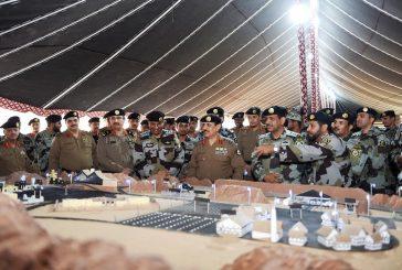 مدير الأمن العام يتفقد الاستعدادات الإنشائية والميدانية لتمرين وطن 87 للقطاعات الأمنية