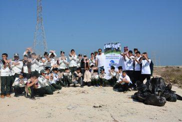 جزيرة أبوعلي تستقبل كشافة الصديق المتوسطة بالجبيل