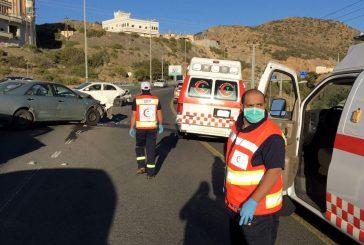 حالتي وفاة و 323 إصابة باشرتها فرق الهلال الأحمر في الباحة بـ 10 أيام