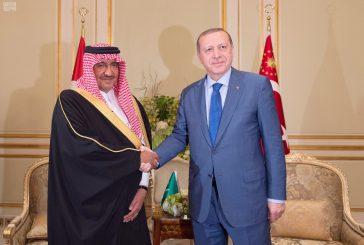 ولي العهد يلتقي الرئيس التركي