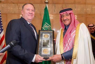 """ولي العهد يتسلم ميدالية """"جورج تينت"""" التي تقدمها وكالة الاستخبارات المركزية الأميركية"""