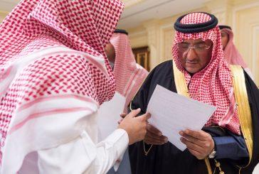 #ولي_العهد يستقبل أصحاب السمو الأمراء وكبار مسؤولي الداخلية وجمعاً من المواطنين