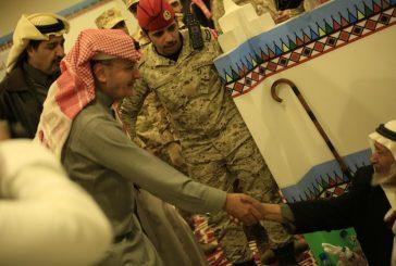 الأمير خالد بن عبدالله بن عبدالعزيز يزور قرية عسير بالجنادرية