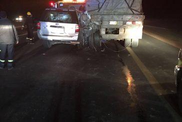 حالتي وفاة وإصابة اثنين في حادث سير على طريق الرياض – القصيم