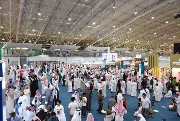 """155 ألف زائر لـ """"كتاب الرياض"""".. و800 عملية شراء الكتروني يومياً"""