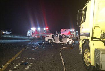 وفاة أربع وإصابة (11) حالة في حادث سير بالمدينة المنورة