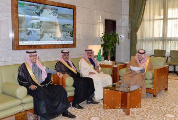 أمير منطقة الرياض يستقبل أبناء الشيخ إبراهيم العجلان