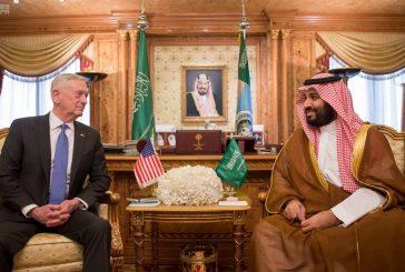 ولي ولي العهد يجتمع مع وزير الدفاع الأمريكي