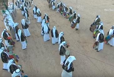 شاهد تفاعل خادم الحرمين مع العرضة السعودية (فيديو )