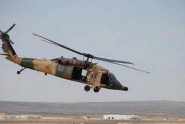 سقوط طائرة عمودية تابعة للقوات المسلحة السعودية في الأراضي اليمنية