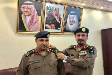 مدير عام الدفاع المدني بمنطقة الباحة يقلد الشهري رتبة عقيد