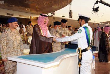 """نائب أمير الشرقية يرعى تخريج الدفعة """"30"""" من طلبة كلية الملك فهد البحرية بالجبيل"""