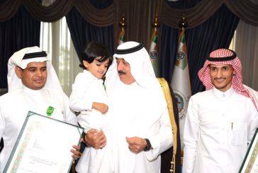 الأمير متعب بن عبدالله يستقبل ذوي شهداء الواجب من أفراد الحرس الوطني ويقلدهم وسام الملك عبدالعزيز من الدرجة الثالثة