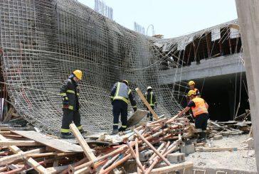 مكة.. انهيار سقف مبنى تحت الإنشاء بمخطط ولي العهد