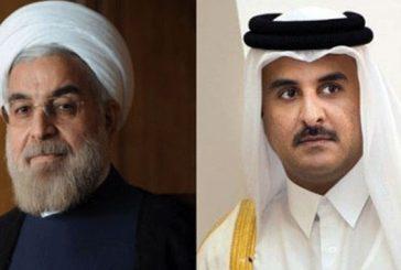 """""""تميم"""" يؤكد لـ""""روحاني"""" على ضرورة توسيع العلاقات مع إيران"""