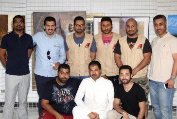 """بالصور..فريق """"جيب المغامرون"""" في زيارة ل""""ملتقى الفن التشكيلي السعودي"""" بالجبيل"""