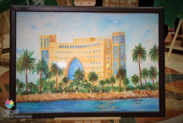 فنانو الجبيل ينثرون إبداعاتهم في ملتقى الفن التشكيلي السعودي