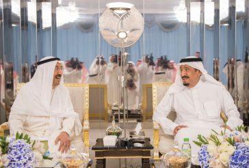 خادم الحرمين الشريفين يستقبل أمير دولة الكويت