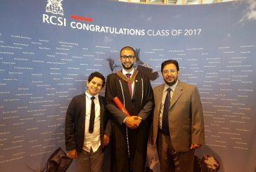 """""""ابو رياح"""" يحتفل بتخرج ابنه من الكلية الملكية للجراحين بإيرلندا"""