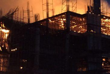 حريق في مبنى مستشفى تحت الإنشاء شمال بريدة