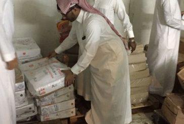 مصادرة 4 طن دجاج ومواد غذائية فاسدة في فرسان